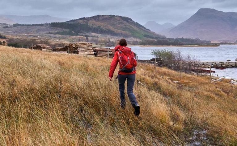 woman walking scotland