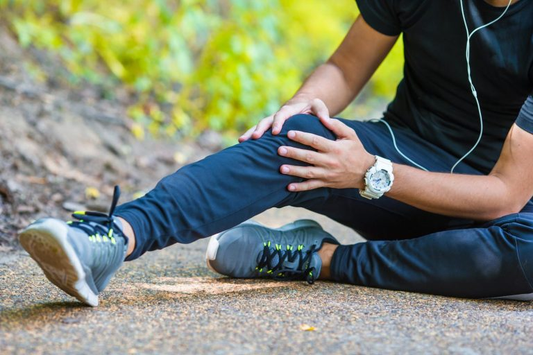 Runner with knee problems