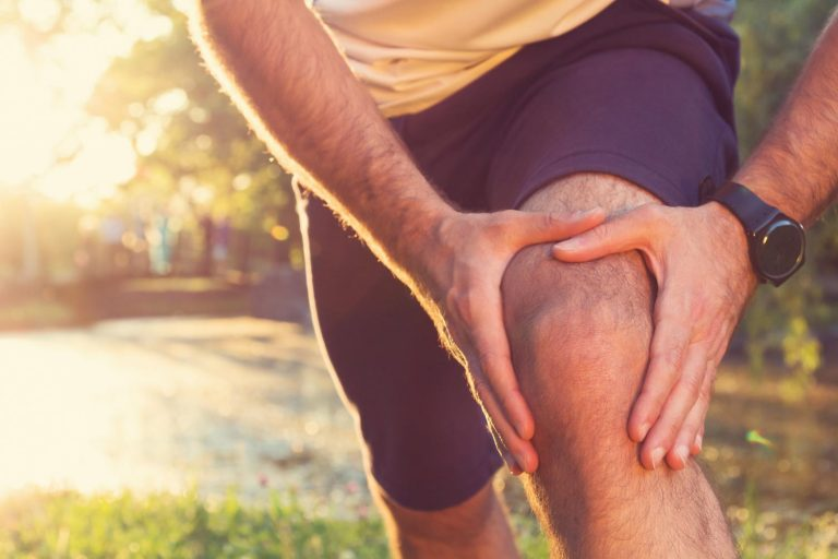 Knee pain caused by meniscal tears