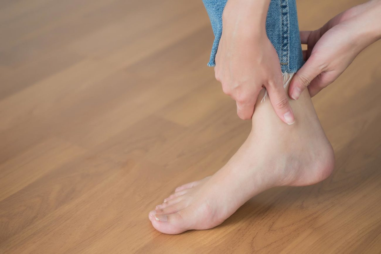 Womans ankle