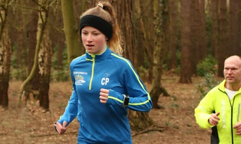 14-year-old schoolgirl running
