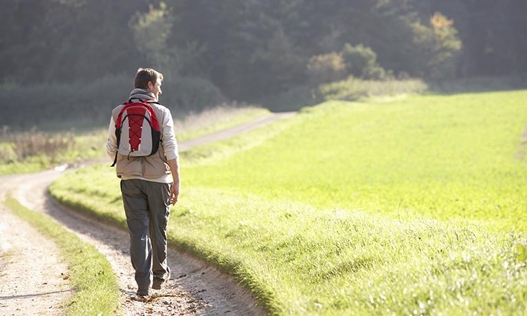 Man Walking in the countryside
